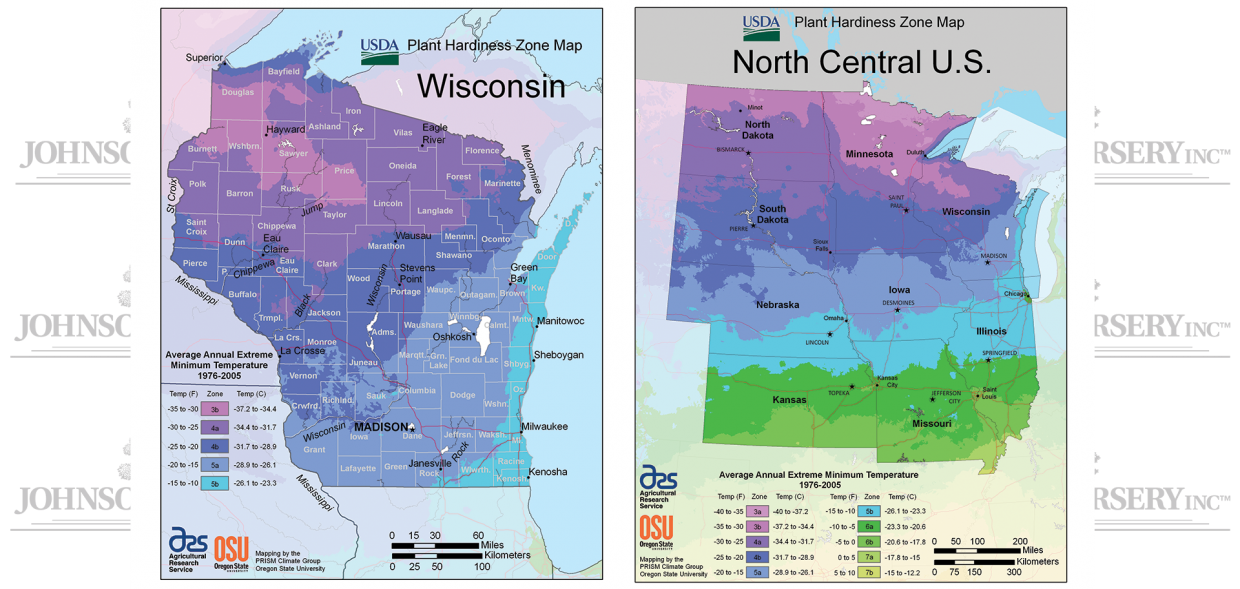 usda hardiness zone wisconsin zones maps
